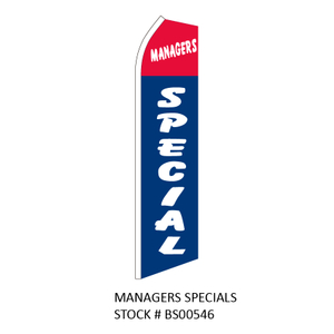 Swooper Flags MANAGERS SPECIALS