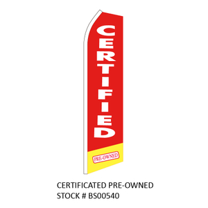 Swooper Flags CERTIFICATED PREOWNED