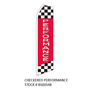 Swooper Flags CHECKERED PERFORMANCE